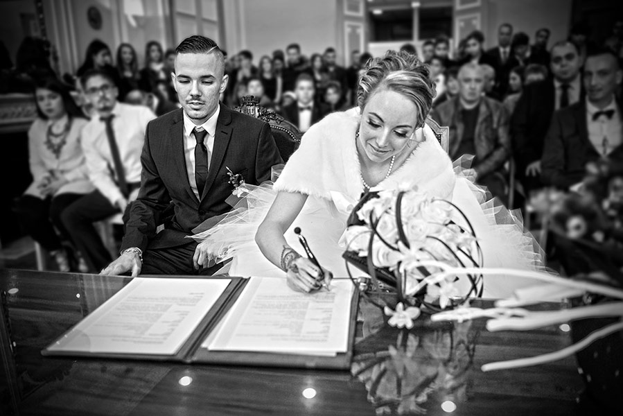 mariage reportage photo cérémonie à la mairie